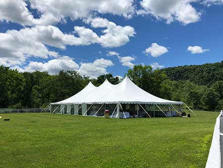 Grand Rental Station rents pole tents in Warren, Sussex, Morris & Essex Counties