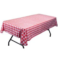 Rental store for TABLECOVER, PLASTIC 54X108 GINGHAM in Hackettstown NJ