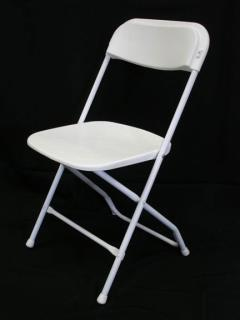 Rental store for CHAIR, FOLDING WHITE in Hackettstown NJ