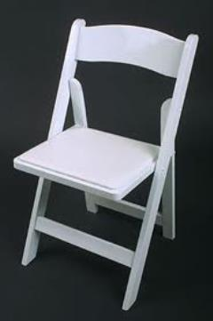 Rental store for Chair Resin White with Pad in Hackettstown NJ