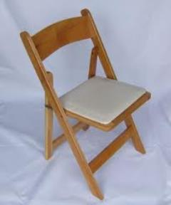Rental store for CHAIR, NATURAL WOODEN W  PAD in Hackettstown NJ