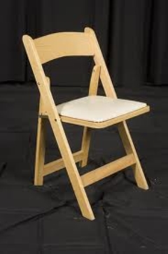 Rental store for NATURAL WOODEN CHAIR W  PAD in Hackettstown NJ