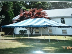 Rental store for TENT, 20  X 40  BLUE WHITE in Hackettstown NJ